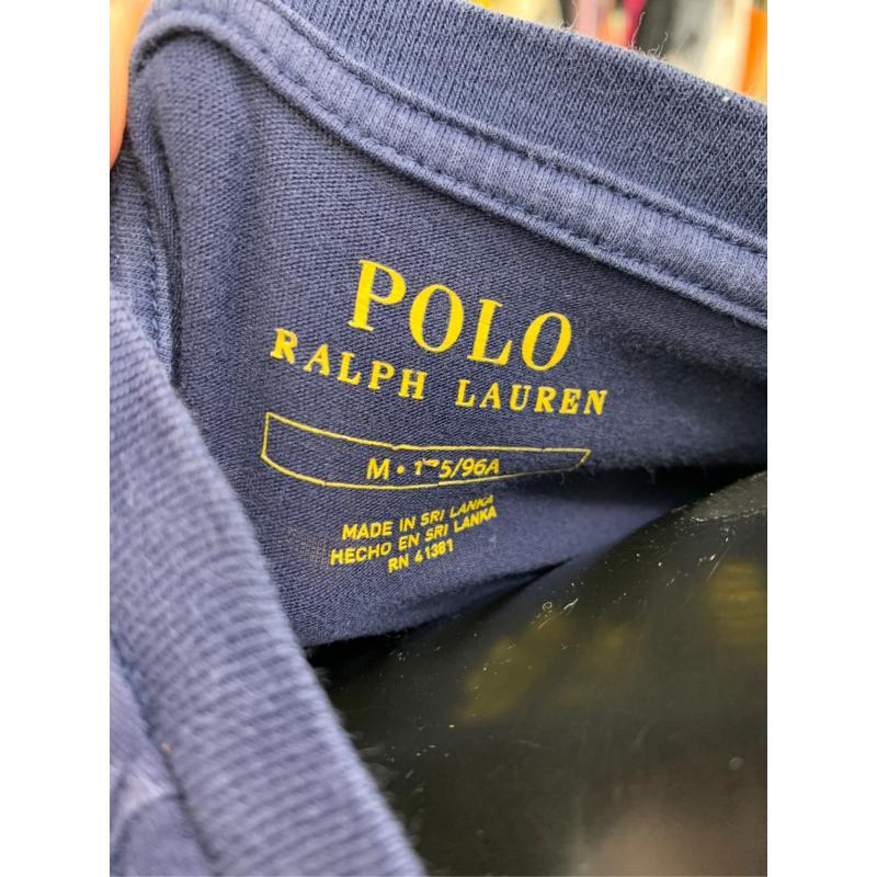 T SHIRT POLO RALPH LAUREN BLU BASIC MANICHE CORTE | Mercatino dell'Usato Torino piazza statuto 3