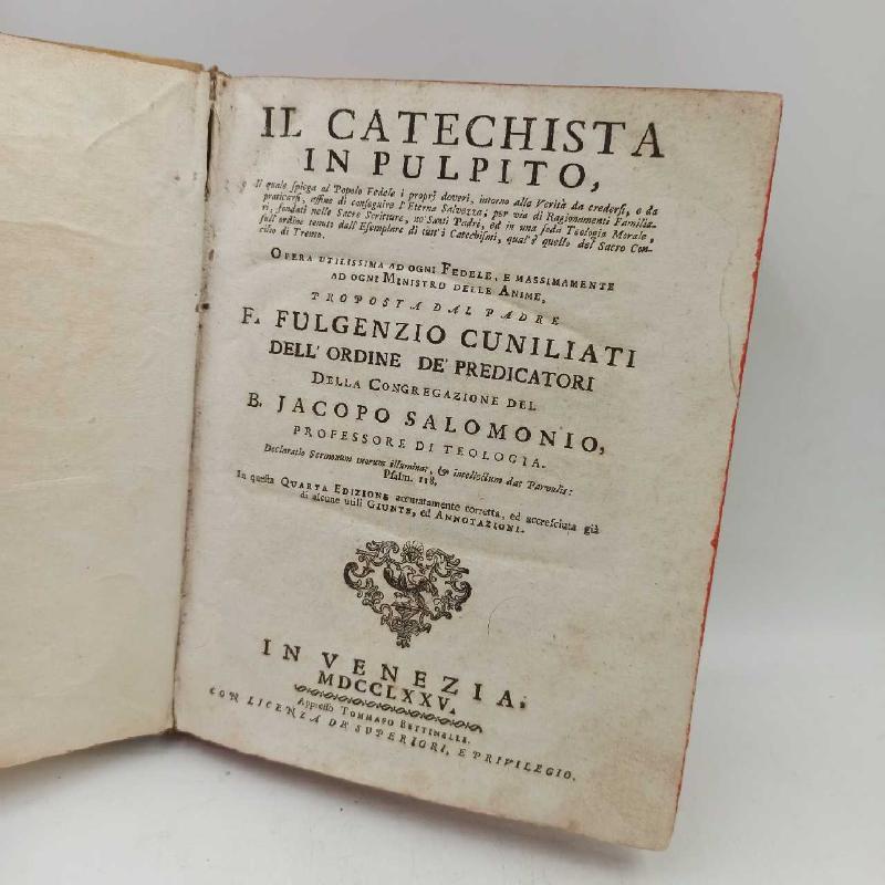 IL CATECHISTA IN PULPITO 1775 FULGEZIO CUNILIATI IN VENEZIA  | Mercatino dell'Usato Verbania 1