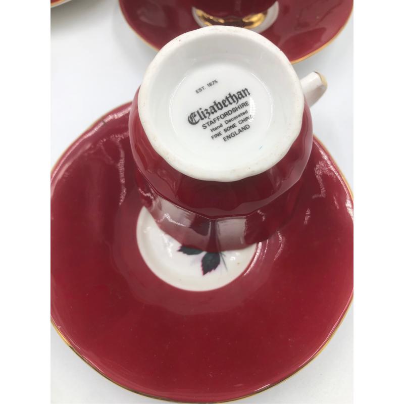 TAZZINE ENGLAND 6 PZZ 5 PIATT ROSSE ROSE | Mercatino dell'Usato Chiampo 3