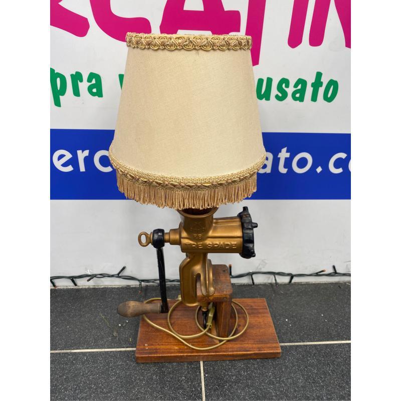 LAMPADA TRITACARNE BASE LEGNOP   Mercatino dell'Usato Verona fiera 1