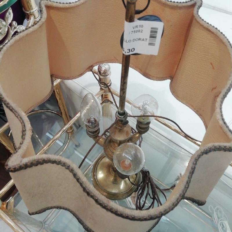 LAMPADA METALLO DORATO 3 LUCI | Mercatino dell'Usato Verona fiera 2
